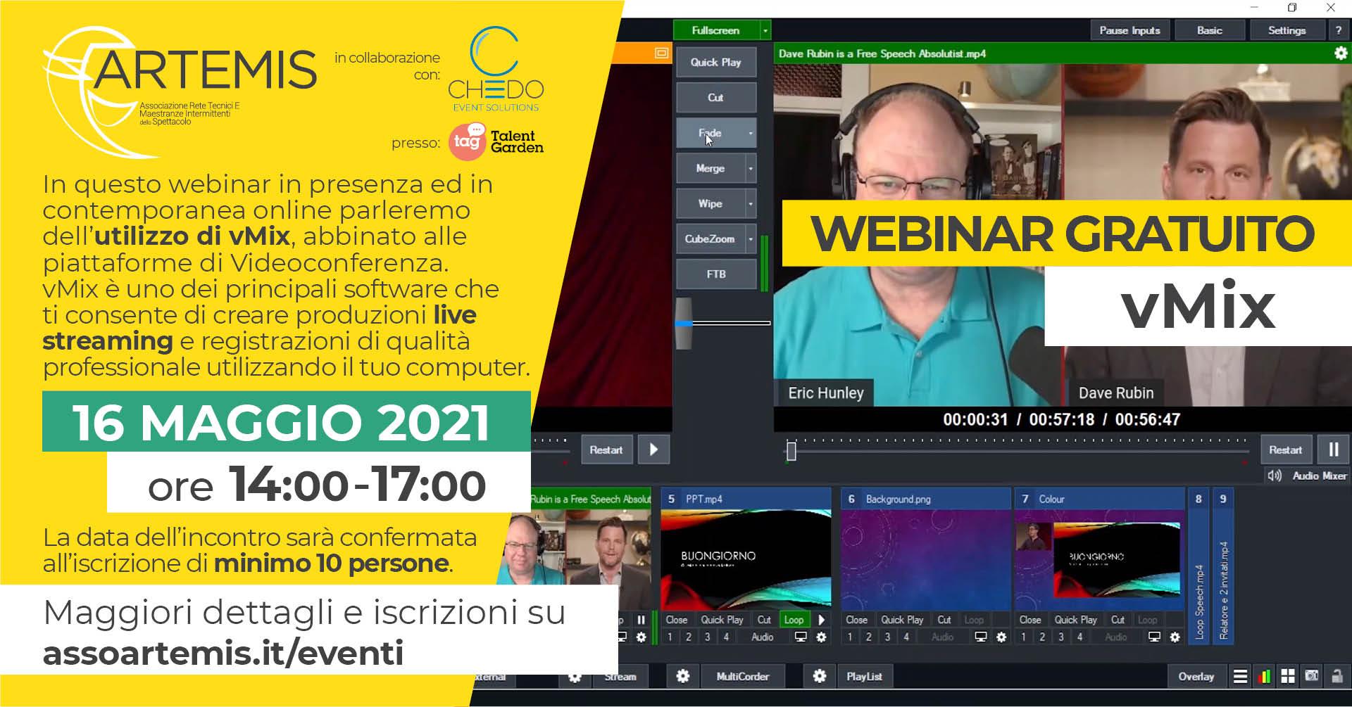 webinar vmix gratuito live straming software e registrazione